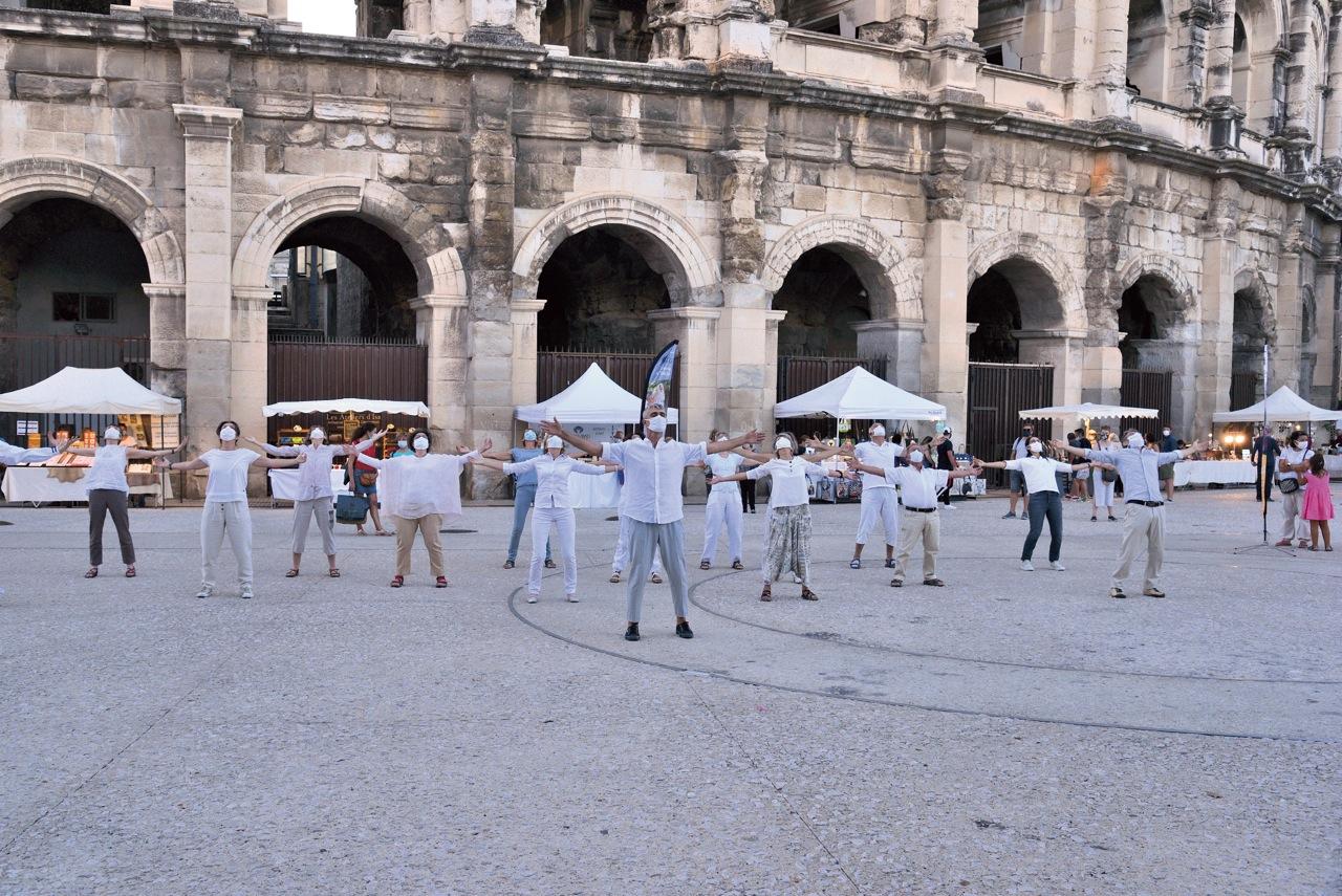 Flash Mob des Arènes